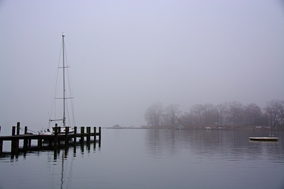 Foggy afternoon on the Magothy River